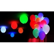 Trade Globe LED Light Balloons for Birthdays, Anniversary, Christmas, Various Occasions 12 Inches (Multicolour)-Set of 15 Units