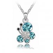 Kék kristályos pillangós nyaklánc