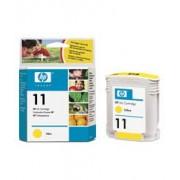 HP 11 Yellow Ink Cartridge, 28ml (C4838AE)