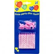 Set 12 lumanari roz