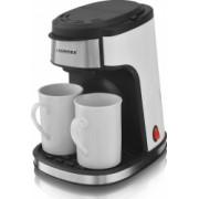 Cafetiera cu filtru Aurora AU3140 Putere 450W 250ml 2 cesti ceramice incluse Filtru detasabil Cafea/Ceai Alb/Negru