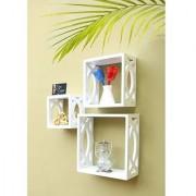 Onlineshoppee Square Nesting MDF Wall Shelf
