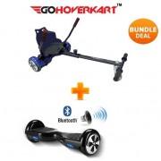 """Hoverkart and 6.5"""" Bluetooth Hoverboard Carbon Black Go Racer Bundle"""