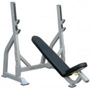 Banca inclinata pentru piept cu suport pentru bara Impulse Fitness IFOIB (Negru/Gri)
