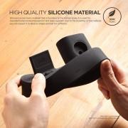 Elago Trio Charging Hub - силиконова поставка за зареждане на iPhone, Apple Watch и Apple AirPods (черна)