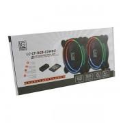 LC-Power RGB kit 2x120mm ventilator, LED traka LC-CF-RGB-COMBO