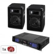 """Malone PA Set """" SPL"""" par altavoz 6,5 cm subwoofer y amplificador de 300 W (PL-10864-3847)"""