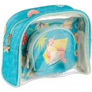Merkloos Toilettas/make-up tassen set eenhoorn/unicorn voor kinderen