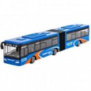 Masinuta autobuz transport urban metalic albastru
