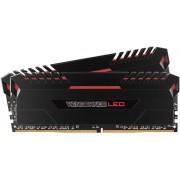 Memorii Corsair Vengeance LED Red DDR4, 2x16GB, 2666 MHz, CL 16