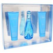 Set Cool Water Woman 3Pzs 100 ml Edt Spray + Shower Gel 75 ml + Body Lotion 75 ml de Davidoff