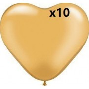Get Orange 36 Inch Giant golden Heart golden loving heart Latex Balloon (Premium Helium Quality) Pkg/10