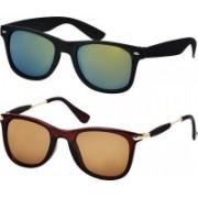Freny Exim Sports, Wayfarer Sunglasses(Brown, Green)