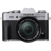 Fujifilm Systemkamera Fujifilm X-T20 inkl. XC 16-50 mm II 24.3 MPix Silver 4K-video, Full HD Video, Elektronisk sökare, WiFi