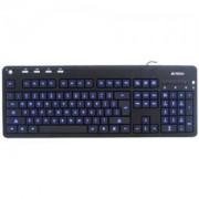 A4tech KD-126-1 Клавиатура USB с LED синя подсветка - A4-KEY-KD-126-1