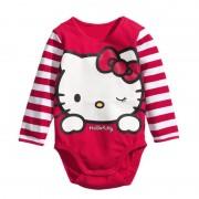 Detské body s dlhým rukávom Hello Kitty
