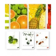 Тетрадка A5 UV Fruits, 60+2 л.ред, 70 г/м2