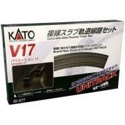 Kato USA Model Train Products V17 UNITRACK Japanese Packaging Version Concrete Slab Double Oval Track Set