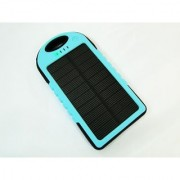 Water and Dust Proof 5000 mAh Solar Power Bank Sky Blue Color