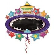 Burton & Write on Star Black Board Foil/Mylar Balloon