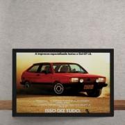 Quadro Decorativo Carro Comercial Volkswagen Gol GT 25x35