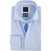 Profuomo Hemd Blau + Weiß Kontrast - Blau Größe 43