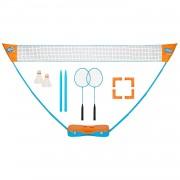 Badminton Spel Set Opzetbaar blauw/oranje