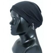 SONU DESIGNERS Super beautiful Black Fabric Beanie Cap For Girls ladies ( Best Quality - Winter Care Cap )