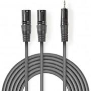 Nedis COTH15310GY15 2x XLR - 3.5mm Jack kábel - 1,5m