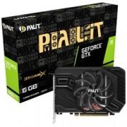 Видео карта Nvidia GeForce GTX 1660 Ti, 6GB, Palit StormX, PCI-E, GDDR6, 192-bit, DisplayPort, HDMI, DVI