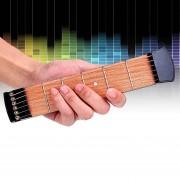 6 Traste Portatil De Bolsillo, La Practica De La Guitarra Para Principiante Chord Fingering Práctica Herramienta Gadget Portátil Herramienta