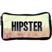 Snoogg HIPSTER PICSTY Poly Canvas Student Pen Pencil Case Coin Purse Utility Pouch Cosmetic Makeup Bag