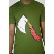 e.5.Charlie Let Me Axe Custom Printed T Shirt Green