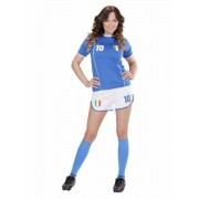 Disfraz de Jugadora de fútbol italiana para mujer