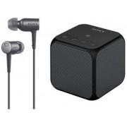 Sony MDR-EX750NA Noise Cancelling Headphones & Portable Speaker Bundle