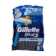Gillette Blue3 Smooth 8 ks jednorázová holítka pro muže