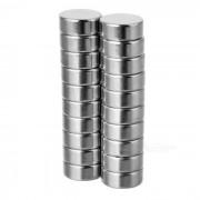 12 * 5 mm iman de NdFeB cilindrica - blanco plateado (20 PC)