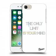 Átlátszó szilikon tok az alábbi mobiltelefonokra Apple iPhone 7 - The only limit is your mind