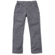Carhartt Washed Duck Double-Front Work Dungaree Hose Grau 40