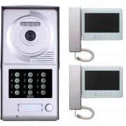 Interphone vidéo code et badges rfid - 2 écrans - office 2