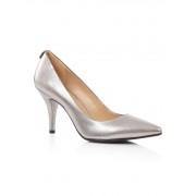 Michael Kors MK Flex pump van leer in metallic