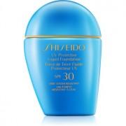 Shiseido Sun Foundation maquillaje líquido resistente al agua SPF 30 tono Dark Ivory 30 ml