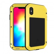LOVE MEI for iPhone XS Max 6.5 inch Dust-proof Defender Phone Cover - Yellow
