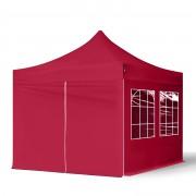 TOOLPORT Easy up Partytent 3x3m hoogwaardige polyester met een extra PVC coating 300 g/m² rood waterdicht Easy Up Tent, Pop Up Partytent, Harmonicatent, Vouwtent
