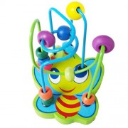 Baomabao_toy Education ToyBaomabao Colorful Wooden Puzzle Toys Around The Bead Toy Animal Small Beads