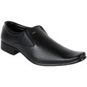 Shoe Island Modish Black Formal Shoes Slip On For Men(Black)