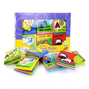 Baby Toys 0-12 Months Intelligence Development Cloth Book Soft Rattles Unfolding Activity Books Cute Animals Kids Toys pack of 6pcs