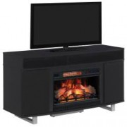 Semineu electric ClassicFlame Enterprise Lite cu incalzire Infrarosu Quartz si focar electric 3D de 26 Gloss Black cu su
