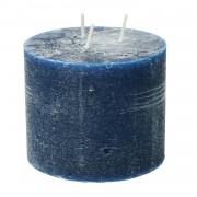 Dille&Kamille Bougie bloc, bleu nuit,Ø 12 x 10 cm