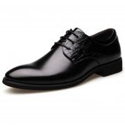 Zapatos Mocasines De Negocio De Encaje Para Hombre - Negro